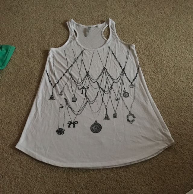 Woman's Singlet With Print Detail Size S