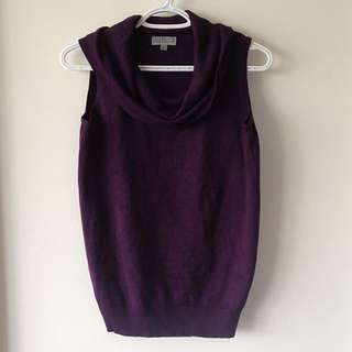 Purple Sleeveless Sweater