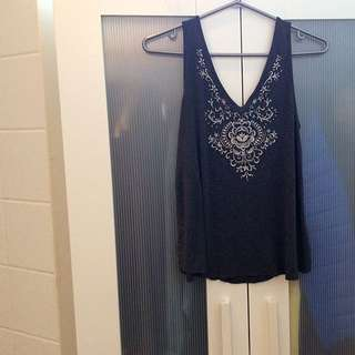 ♡Embroidered Tank Top