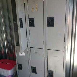 6 Stacked Metal Lockers