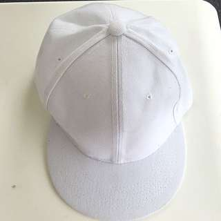 Plain White Cap/hat
