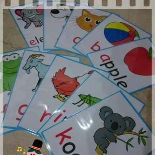 英文字母ABC 圖卡字卡教具
