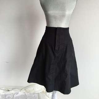 Zara High Waisted Black Skirt