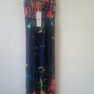 Brand New Paint Splatter Maxi Dress