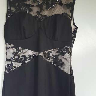 Elegant Fish Tail Dress Worn Once Size 12