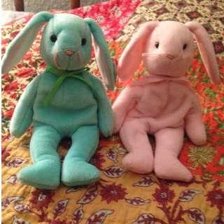 Ty original Beanie Babies Hippity and Hoppity