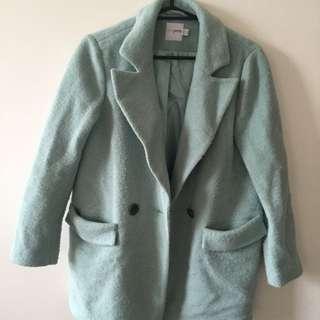 asos women's pea coat (mint green)