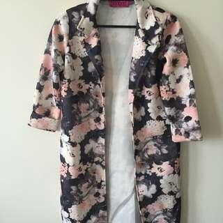boohoo floral longline blazer