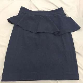 Zara Peplum Skirt Tosca Size M
