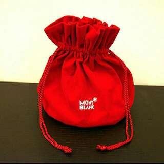 💋(BN) Limited Edition Mont Blanc Drawstring Pouch