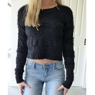 Black Fluffy knit