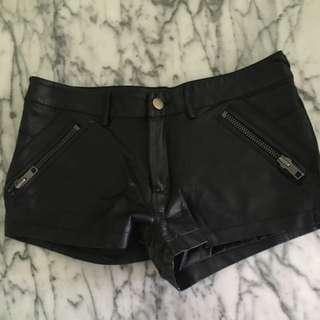 Pleather Shorts Size 8