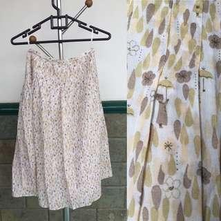 Preloved Full Print Skirt