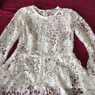 Lace See Through Long Sleeves Top