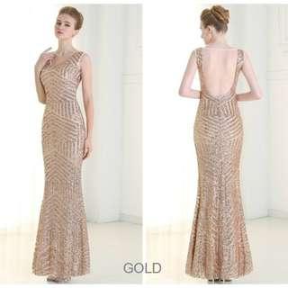 Art Deco Pattern Sequinned Mermaid Dress Great Gatsby Inspired - Custom Made ALL001