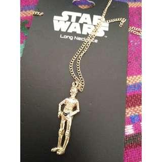 星際大戰 Star Wars C-3PO 金色項鍊 美國購入