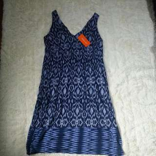 Joe Fresh Navy Patterned Dress
