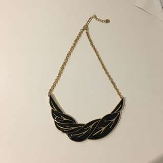 Black And Gold Statement Necklace