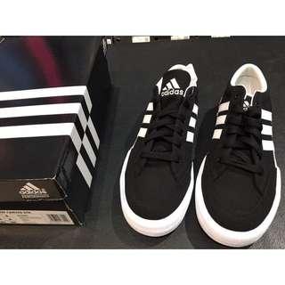 愛迪達 休閒鞋 CANVAS STR 黑白配色
