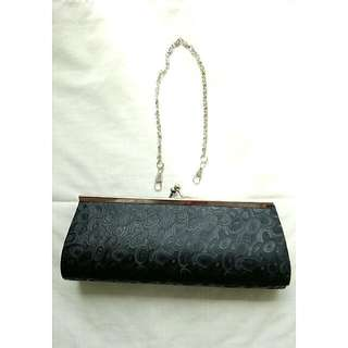 Mini Black Clutch Bag