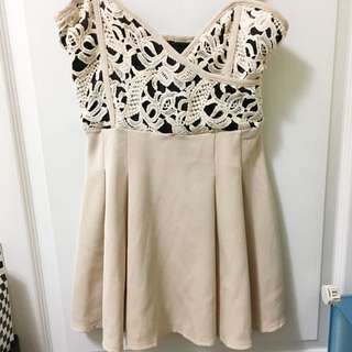 🔱SALE🔱性感深V嫩白膚小洋裝
