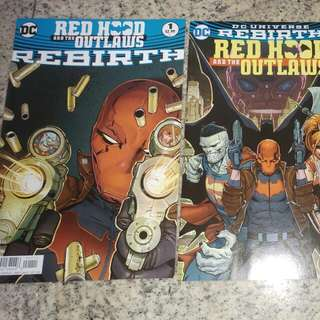 Redhood & The Outlaws Rebirth #1,#1 And #2( Batman. Justice League, Robin, Green Lantern, DC comics, Superman Vs Batman)