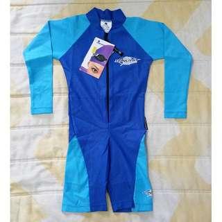 [LIMITED SIZE!] BN Stingray Kids L/S Swimsuit (Dark Blue/Light Blue)