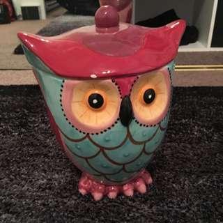 Ceramic Owl Jar
