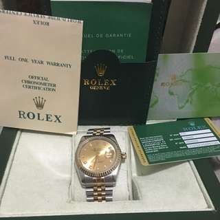 Semi real Semi Replica Rolex Dejust