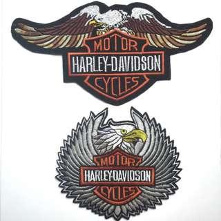 Large Harley Davidson Iron On Patches