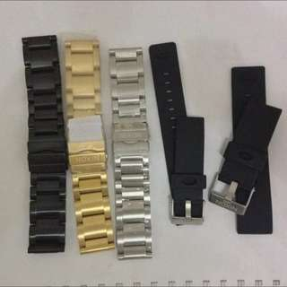 Original Nixon  51-20 Stainless Steel And Rubber Strap