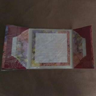 Special Floral Design Letter Paper N Envelopes