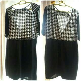 DRESS BIGSIZE MONOCHROME