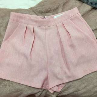 Size 8 Pink High Shorts