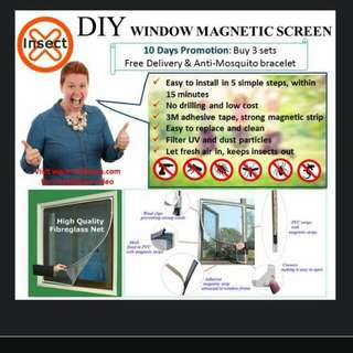DIY Window Magnetic Screen