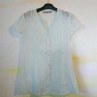 PRELOVED PRETTY BLUE SHIRT