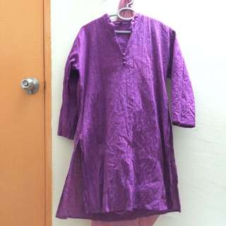 Cotton Long Tunic from India XL