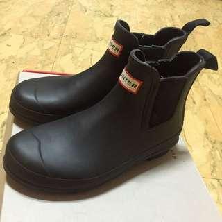 免運費 專櫃正品 Hunter Chelsea 黑色短筒雨靴 UK6