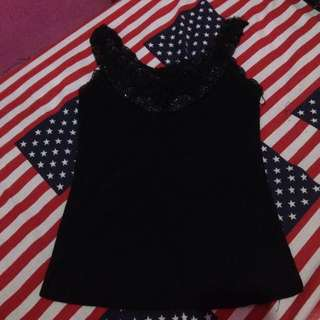 tanktop black flower