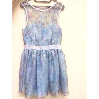 Miss Selfridge Blue Dress