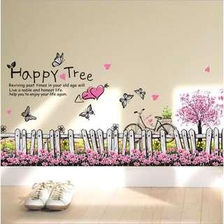 最熱銷⭐️櫻花🌸柵欄 無痕壁貼 現貨