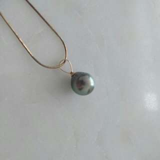 Genuine Black Pearl Pendant