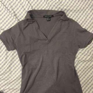 Collared V-neck Shirt
