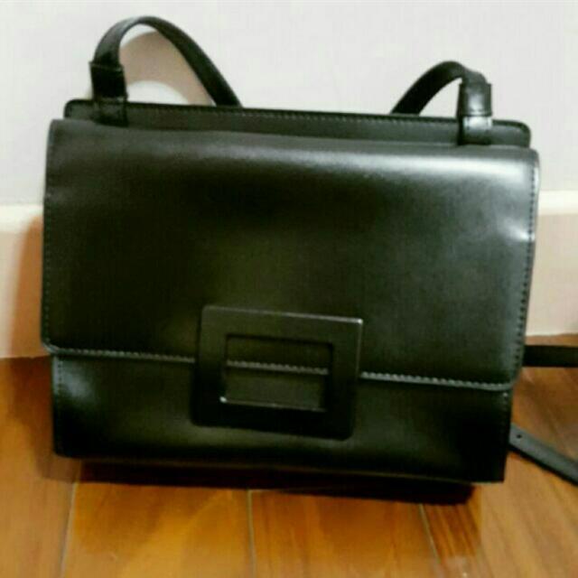 韓國🕴黑色簡約小方包/側背包/單肩包