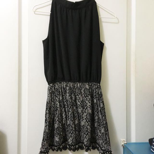 🌹超美🌹黑色無袖雪紡洋裝