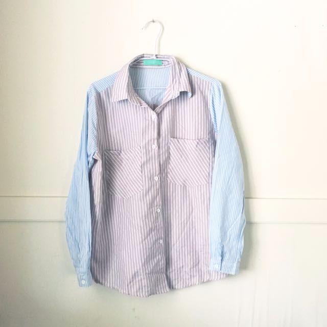 馬卡龍條紋襯衫