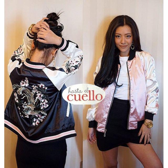 限時特惠🔖橫須賀復古緞面刺繡雙面外套
