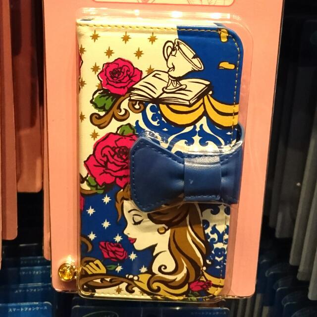 夏趴。日本迪士尼樂園限定 【 美女與野獸】多機種可以用 手機保護套