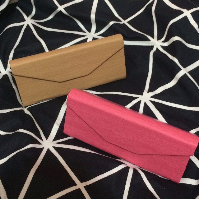 高質感磁鐵眼鏡盒 磁扣三角盒 太陽眼鏡墨鏡盒子 高檔皮革材質 木紋眼鏡盒
