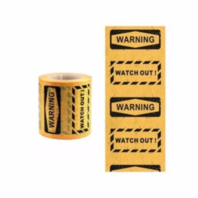 知音文創 Function Tape 功能紙膠帶 警告 WARNING